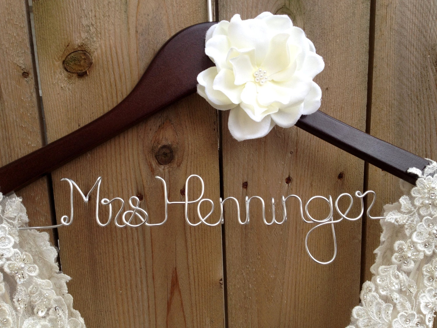 bride hanger bridal dress hanger wedding hanger