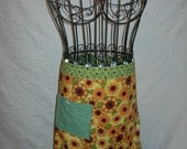 Bright and Cheery half apron, Wake Up Sunshine,  Enjoy your kitchen in this Cutie...