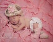 Cowgirl Boot and Hat Set