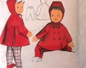 Childs Pattern- 1950s hooded coat and trousers for a 2-3 year old.