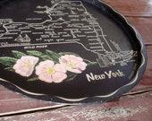 New York Tray, Retro Souvenir Serving Tray