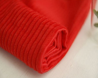 Red Wide Wale Cotton Corduroy per Yard 28591