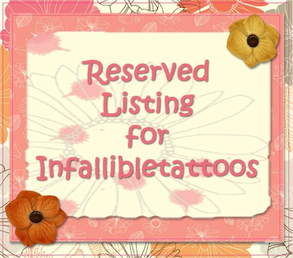 RESERVED for CaliCoastCreations