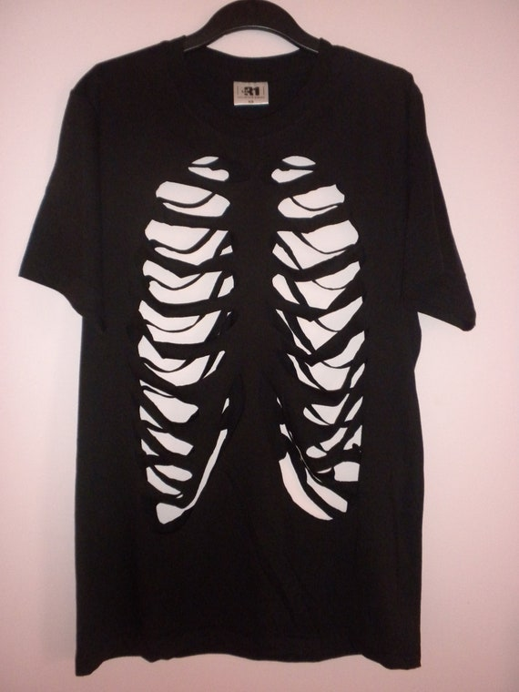 Rib Cage cut out shirt  Made To Order