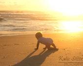 Beach Baby Summer Sunrise, Mother's Day, Nags Head North Carolina, Coastal Beach Decor, 8x10 Photo Art, Framed Photography Option