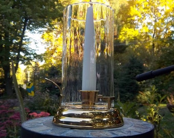 Partylite Brass and Glass Candle Holder