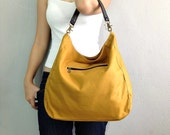 BagStory JESS CLASSIC / Shoulder Bag, Hand Bag in Mustard and Black / Tote