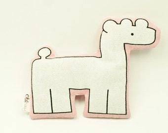 Lavender sachet. Nursery decor. White Giraffe. Baby Safari series