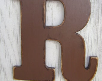Shabby chic rustic wooden letter wall hanging decor