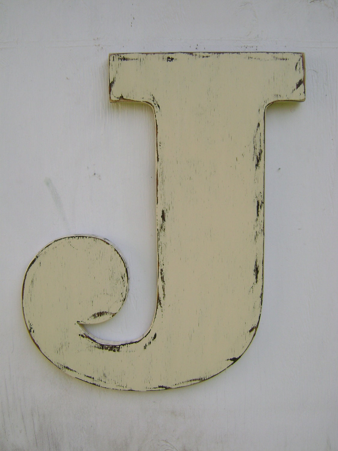 Rustic wall hanging decor home decor nursery decor baby shower for Large letter j for wall