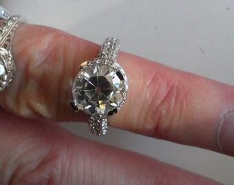 Sale Old European Cut Engagement/Wedding Ring Set