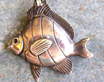 Vintage Fish Pin/Pendant Sterling by Jewelart