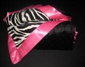 Double Minky Zebra Blanket