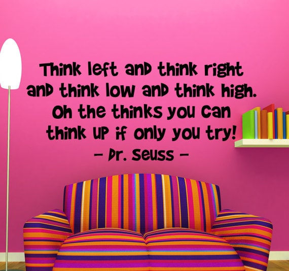 Dr Seuss Quotes Oh The Thinks You Can Think: Unavailable Listing On Etsy