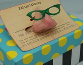 Nose pin with glasses for those who wish to embrace the inner geek.