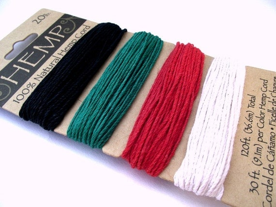 100% Natural biodegradable hemp cord