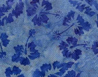 Blue Flowers Punch Batik