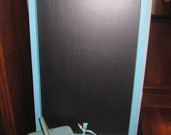 Upcycled Wooden Frame is Now a Fresh, New Chalkboard in Turquoise Wooden Frame