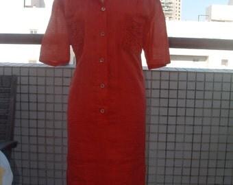VALENTINO  orange linen  never ware made in Italy circa 1980's free shipping