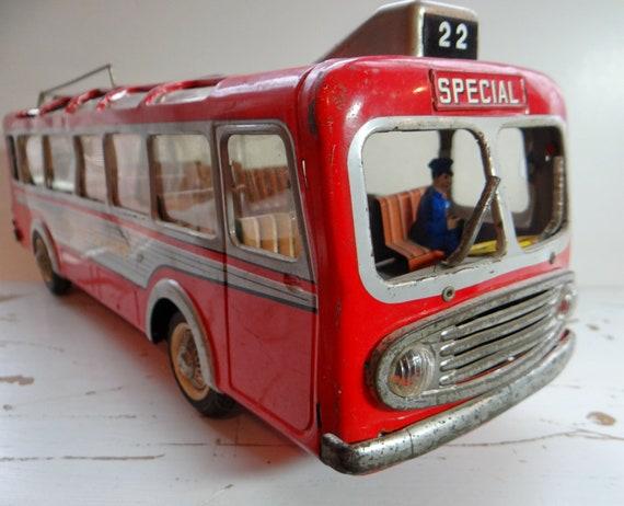 reserved for dave vintage joustra tin toy bus ile de france. Black Bedroom Furniture Sets. Home Design Ideas