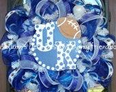 UK Wildcats University Of Kentucky Football Deco Mesh Wreath