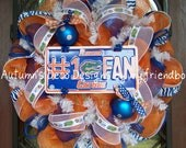 Florida Gators Number 1 Fan Football Deco Mesh Wreath