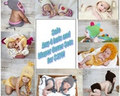 4 hat and diaper cover set package-Any 4 Made to Order Hats and diaper cover sets from shop-SALE