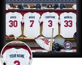 Minnesota Twins Personalized Locker Room Photo