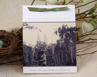 Photo Wedding Program Booklet with ribbon tie: Get Started Deposit