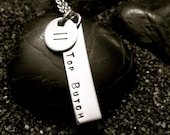 TOP BUTCH hand stamped stainless steel necklace