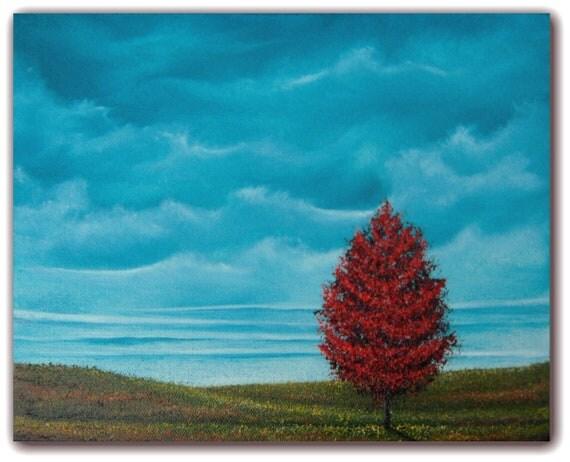 Original Landscape Painting Contemporary Art Sky By Bingart