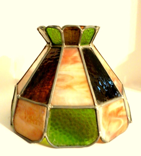 Vintage Leaded Glass Lamp Shade Tiffany Style Lamp Shade