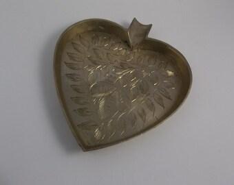 Brass Heart Ashtray