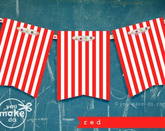 red banner 1st birthday banner boy red birthday decorations boy baby shower banner red party printables red stripe banner striped garland
