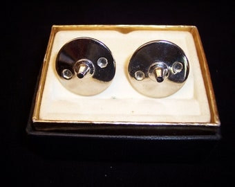 Vintage Foster silver cuff links fine men's jewelry