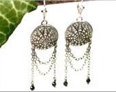 "Earrings ""Matahari"" made of 999 fine silver"
