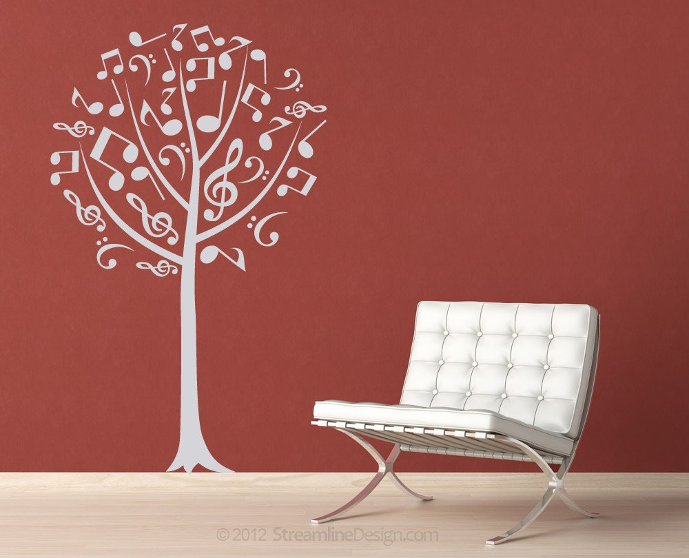 Musical notes tree removable vinyl wall art music notes music zoom amipublicfo Gallery