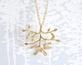 Gold Tree Branch Neckace - 14K Gold Filled Chain