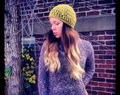 Handmade Harvest Crochet Winter Hat, Unisex, Women's Hat, Mens Hat, Winter Hat, Hippie Hat, Beanie