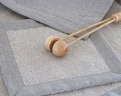 Linen Terry Bathmat / Bath Rug / Soft / Ecru