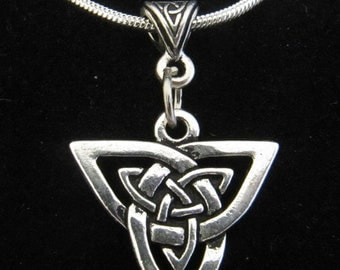 Silver Celtic Trinity Knot Necklace