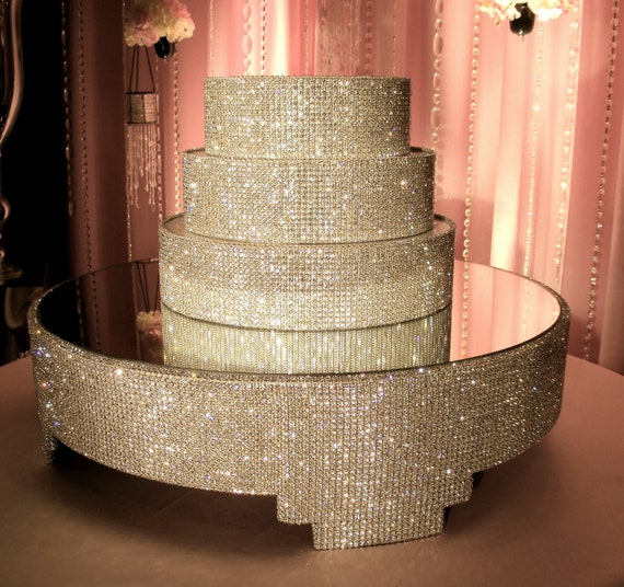 Diy Cake Stand Wedding Ideas: Crystal Cake Stand And Separators Package