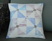 Marbled Pinwheel Pillow Cover
