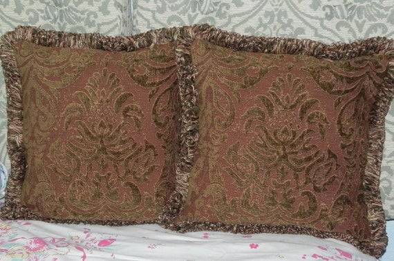 Pair of Autumn-Hued Pillow Covers