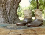 Reserved for Hollie / Vintage Slouch Boots / 8 1/2 Mens 10 Women's / Cowhand Sheik / Steampunk