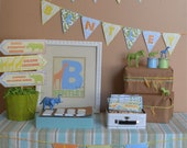 Jungle Theme Printable Party Package, Birthday or Baby Shower Boy or Girl
