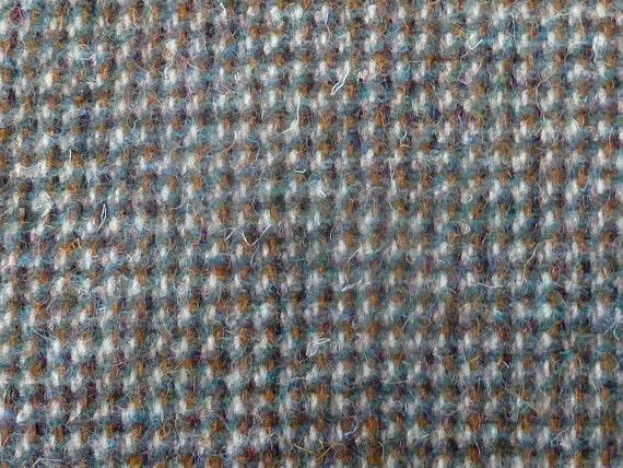 vintage Harris Tweed fabric wool brown green white hand woven