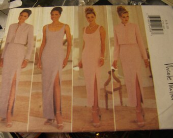 Butterick 4778 uncut Nicole Miller pattern size 6, 8 and 10