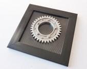 Formula 1 desk or wall '3D car art' made from a Honda F1 racecar gear and carbon fiber