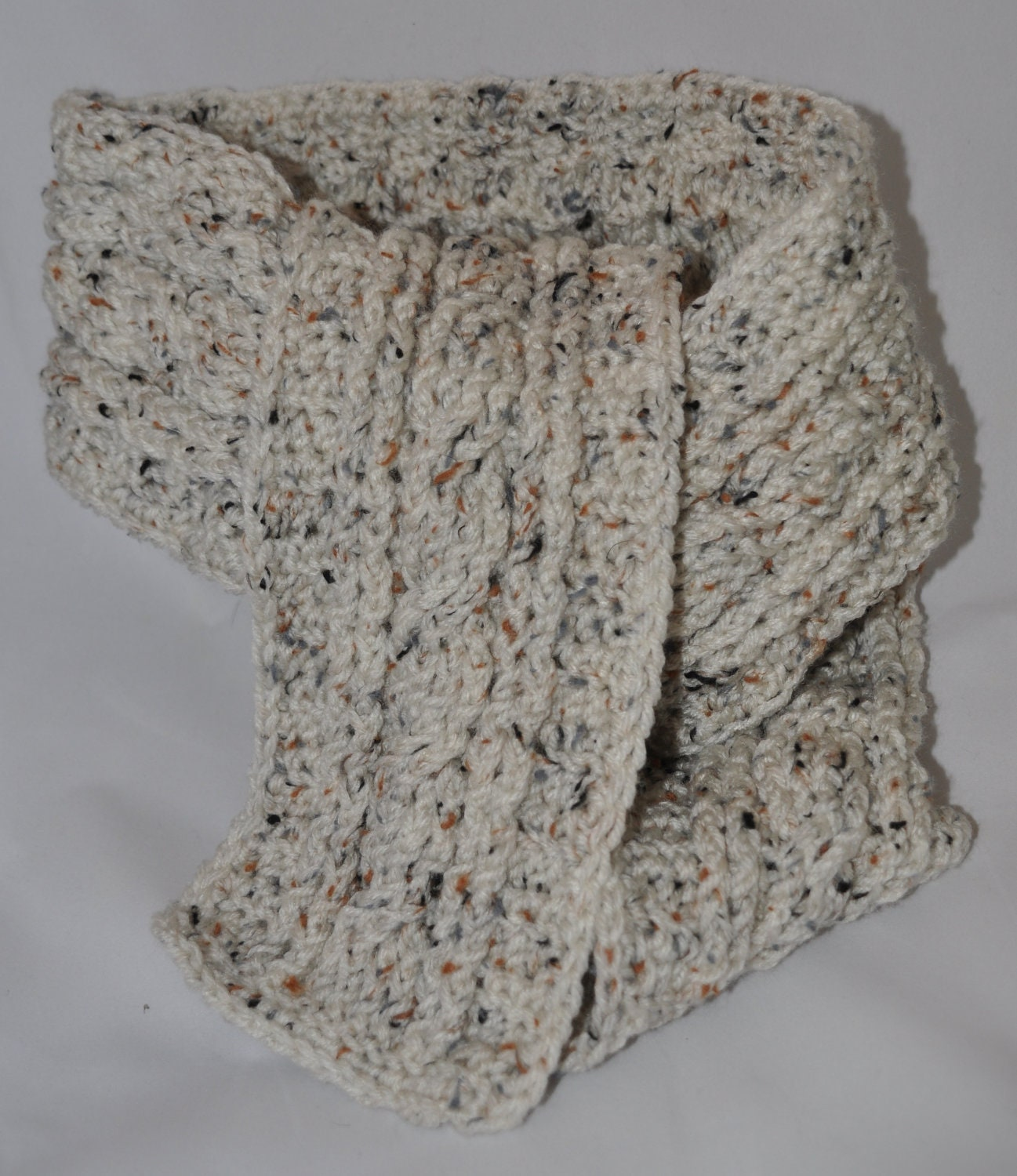 Scarf Crochet with Cable Stitch in Aran by TheLazyCrochetGirl
